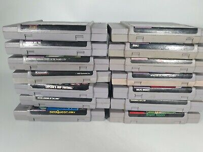$ CDN12.52 • Buy 14 Super Nintendo Video Game Lot SNES Video Game Bundle Untested