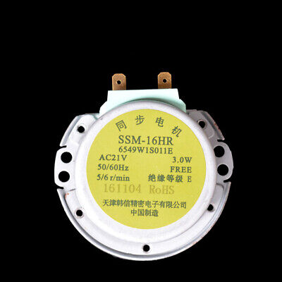 Microwave Oven Ring Plate SSM-16HR Turntable Synchronous Motor AC21V For LG • 5.99£