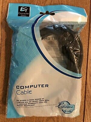 VGA Monitor Adapter Cable 2m - Computer Gear - HD15M To HD15M - NEW • 3.75£