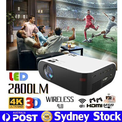 AU140.39 • Buy Mini LED Home Cinema Projector Full HD 1080P Portable Theater Video HDMI USB AV