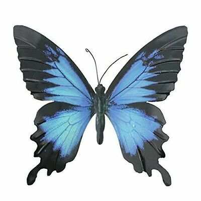 Primus Large Metal Butterfly Blue Wing Tail - Garden Wall Art Ornament Outdoor • 9.20£