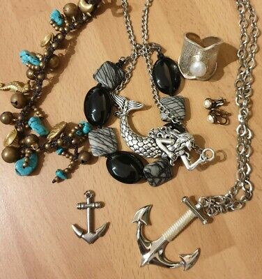 925 Silver And Costume Jewellery Joblot. • 2.99£