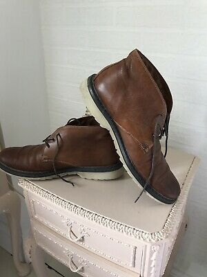 ROCKPORT Chukka Mens Leather Casual Ankle Boots Tan Brown Lace Up Size UK 8 42 • 12.50£
