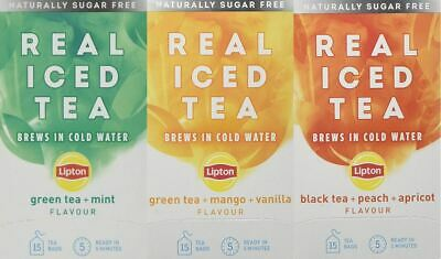 £5.99 • Buy Lipton Cold Brew Infuse Infusions Real Iced Tea Bags - Naturally Sugar Free