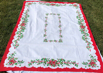 $ CDN20 • Buy Lightweight Polyester VINTAGE TABLECLOTH CHRISTMAS 60x80""