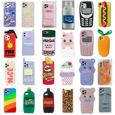 AU3.99 • Buy Cute 3D Cartoon Soft Silicone Kids Cover Case For IPhone 11 Pro Max XR 6 8 7Plus