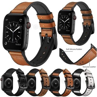 $ CDN18.31 • Buy Silicone Leather Strap For Apple Watch Series 6 5 4 3 2 IWatch SE Bracelet Band