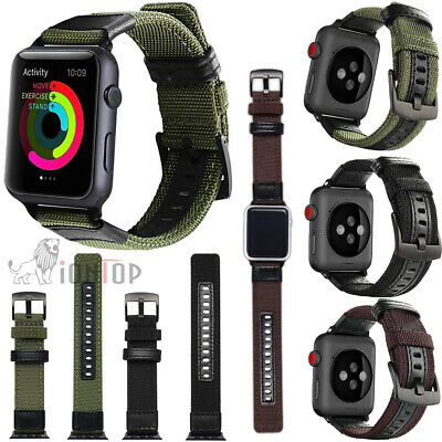 $ CDN9.21 • Buy Nylon Leather Band Strap Replacement For IWatch Apple Watch Series 6/5/4/3/2/SE