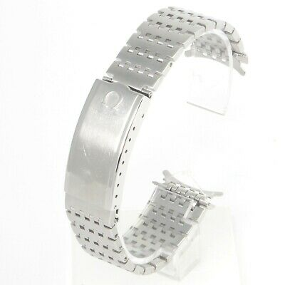 Vintage Omega Seamaster 1193 Steel Watch Strap Bracelet With 568 End Link • 159.99£