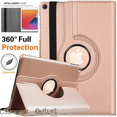 £6.46 • Buy For Apple IPad 10.2  8th Generation 2020 360 Rotating Leather Smart Case Cover