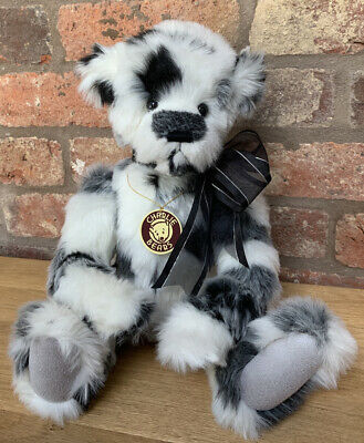 Retired Charlie Bears Inkspot 2012 Collection White Plush With Patches With Bag! • 64.99£