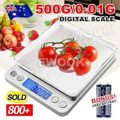 AU12.95 • Buy 0.01G-500G Electronic Mini Digital Pocket Jewelry Gold Weighing Kitchen Scales