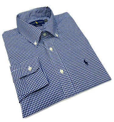 Polo Ralph Lauren Gingham Long Sleeve Check Shirt Classic Fit  NavyBlue / White  • 44.99£
