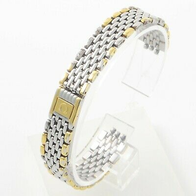 Omega De Ville Ladies Gold & Steel 12mm Wide Watch Band Strap Bracelet 6151/441 • 89.99£