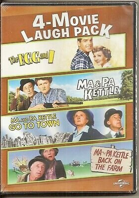 $19.95 • Buy 4-Movie Laugh Pack The Egg And I + Ma & Pa Kettle + 2 More Films! DVD Brand New