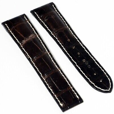 Authentic Omega Dark Brown Alligator Leather 22mm To 18mm Wide Watch Strap Band • 54.99£