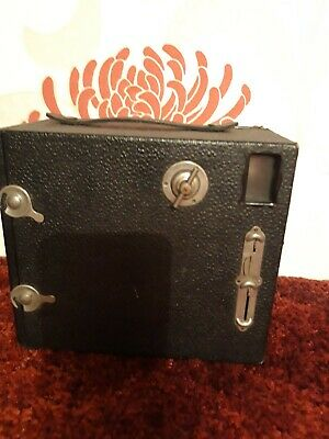 Houghton-Butcher JB Ensign Vintage Box Camera With An Old Roll Of Film • 0.99£