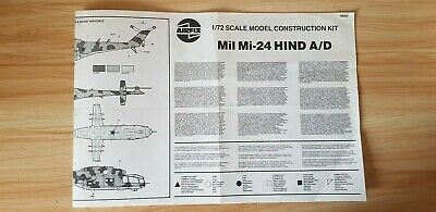 SPARES BOX - INSTRUCTIONS For Airfix 05023 MIL MI-24 HIND A/D 1/72 Scale • 0.99£