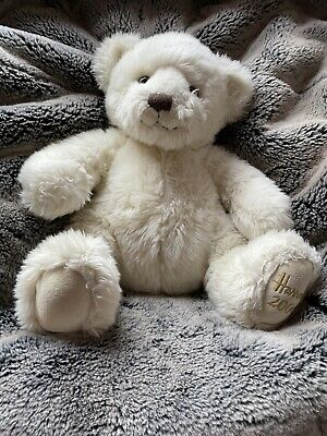 HARRODS Knightsbridge 2006 Christmas TEDDY BEAR Plush Soft Toy Sitting Gold Gift • 0.99£