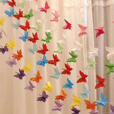 Paper Garland Wedding Butterfly Bunting Hanging Party Banner Decor Home/Wedding • 3.95£