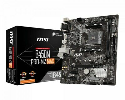 AU85 • Buy Under Warranty MSI B450M Pro M2 Max AMD Ryzen Motherboard