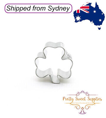SHAMROCK Mini Cookie Cutter 1.75  - Biscuit Pastry Fondant Baking Tools Cake • 2.20£