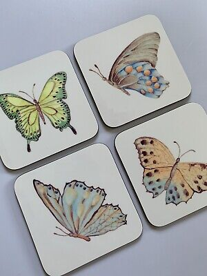 £9.99 • Buy Butterfly Coasters, Butterfly Coasters, Gift For Her, Coasters, Butterfly