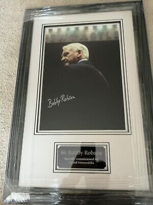 Bobby Robson Hand Signed Framed Picture England Fulham Newcastle Ipswich AFTAL • 14.50£