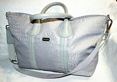 AU41 • Buy RRP$495 OROTON Signature Grey Jacquard Stencil Large Tote/Handbag/Crossbody Bag