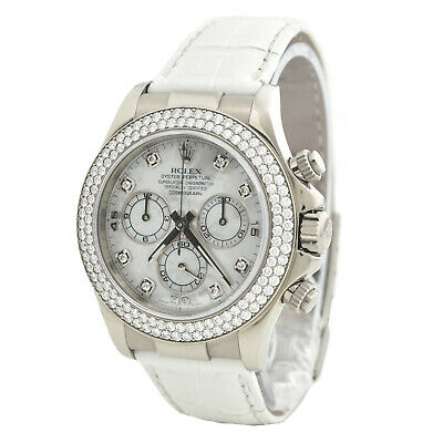 $ CDN53882 • Buy Rolex BOX & PAPERS Daytona 116589RBR With Diamond String Bezel & Mother Of Pearl