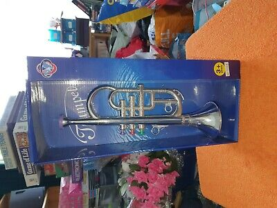 Childs Trumpet Toy By Musical Kids @ Play. Gold Colour. • 9.50£