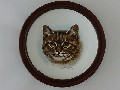 Vintage Poole Pottery Tabby Cat Plaque Signed Derick Bown • 29.95£