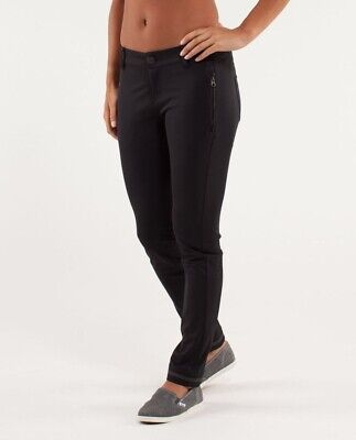 $ CDN80 • Buy Lululemon Out & About Pant. Black. Size 4. Hard To Find.