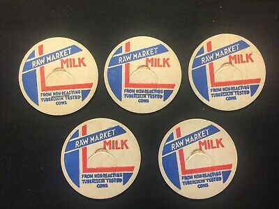 $1 • Buy CLOSE OUT---Vintage Glass Milk Bottle Tops-New Old Stock