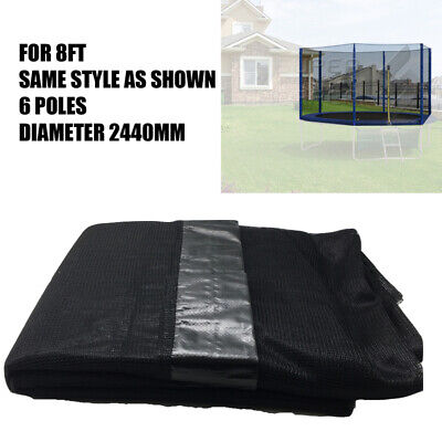 AU45 • Buy Replacement Safety Net Enclosure 6 Poles For 8Ft Round Trampoline