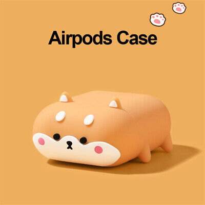 $ CDN10.18 • Buy Airpods Silicone Case Cute Dog Shiba Inu Cover For Apple Airpods 1 2Pro Earphone