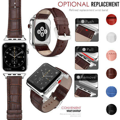 $ CDN9.32 • Buy 38/42m For Apple Watch Series 6 5 4 3 2 1 Leather Wrist Bands 40/44mm IWatch SE