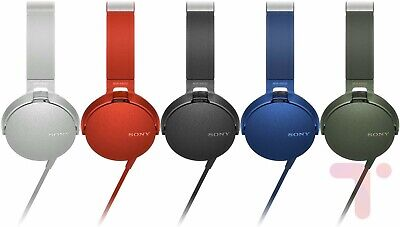 Sony MDR-XB550ap WIRED BLUE WHITE RED BLACK Headphones NEW SEALED • 32£