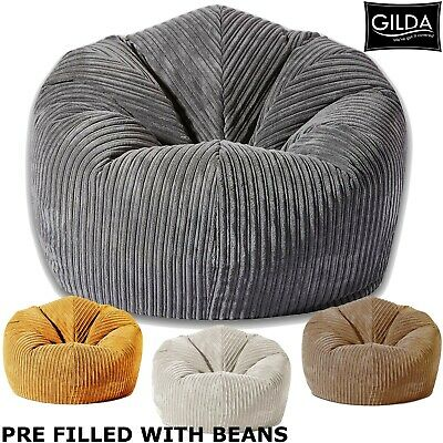 Classic Bean Bag Chair Soft & Snuggly Gamer Adult Gaming Beanbag Seat Lounge • 46.99£