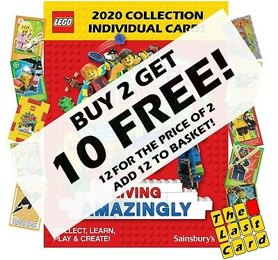 £1.35 • Buy SAINSBURYS LEGO CREATE THE WORLD LIVING AMAZINGLY CARDS (12 For The Price Of 2)