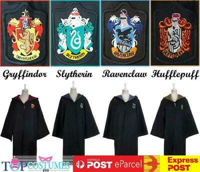 AU19.95 • Buy Harry Potter Adult Robe Cloak Gryffindor Slytherin Hufflepuff Raven Costume