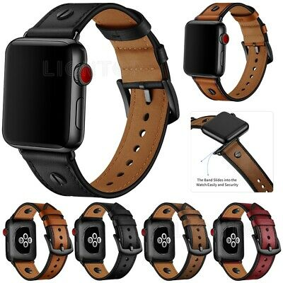 $ CDN17.19 • Buy New Genuine Leather Apple Watch Band Series SE 6 5 4 Strap IWatch Band 40mm 44mm
