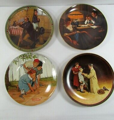 $ CDN31.44 • Buy NORMAN ROCKWELL PLATES Vintage Lot Of 4 Various Designs