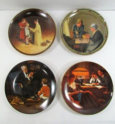 $ CDN38.07 • Buy NORMAN ROCKWELL Collectors PLATES Vintage Lot Of 4 Various Designs