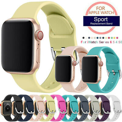 $ CDN7.80 • Buy For Apple Watch Series 6/5/4/SE Soft Silicone Sport Band Strap IWatch 40mm 44mm
