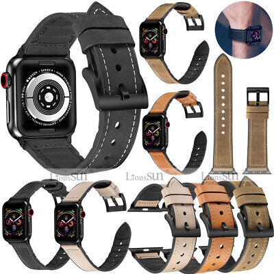$ CDN12.73 • Buy Leather&Silicone Strap For Apple Watch Band 38/40/42/44mm Series 6 5 4 3 2 1 SE