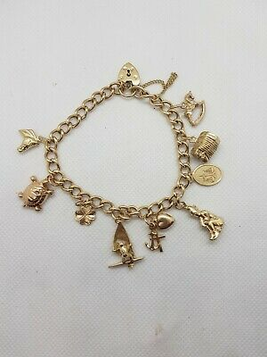 AU850 • Buy 9ct Gold Charm Bracelet