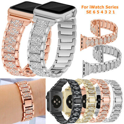 $ CDN12.73 • Buy For Apple Watch Series 6 5 4 3 SE 44/40/42/38mm Stainless Steel Strap Watch Band