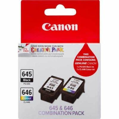 AU31.80 • Buy GENUINE Ink Canon PG-645XL CL-646XL For Pixma MG2965 MX496 MG2460 TS3160 TS3360