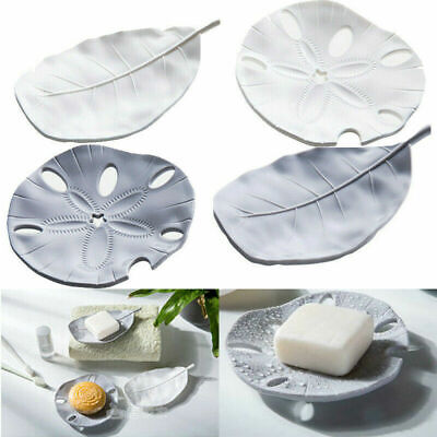 Soap Holder Dish Bathroom Draining Leaf Starfish Soap Stand Box Plate Tray Case • 2.75£
